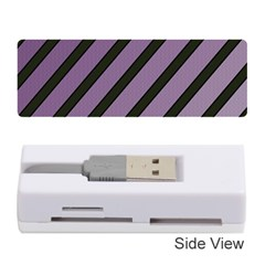 Purple elegant lines Memory Card Reader (Stick)