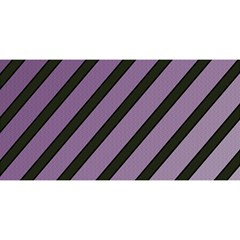 Purple elegant lines YOU ARE INVITED 3D Greeting Card (8x4)
