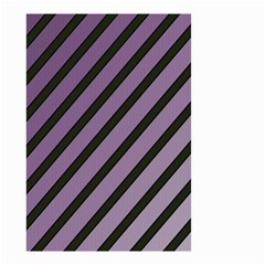 Purple elegant lines Small Garden Flag (Two Sides)