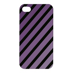 Purple elegant lines Apple iPhone 4/4S Premium Hardshell Case
