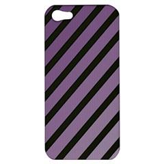 Purple elegant lines Apple iPhone 5 Hardshell Case