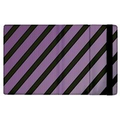 Purple elegant lines Apple iPad 2 Flip Case