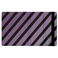 Purple elegant lines Apple iPad 3/4 Flip Case