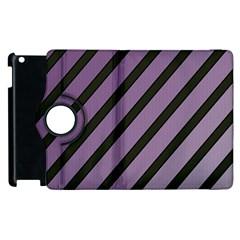 Purple elegant lines Apple iPad 2 Flip 360 Case