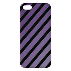 Purple elegant lines Apple iPhone 5 Premium Hardshell Case