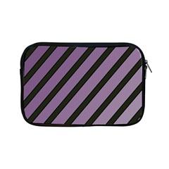 Purple elegant lines Apple iPad Mini Zipper Cases