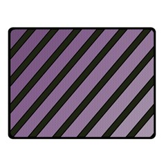 Purple elegant lines Double Sided Fleece Blanket (Small)