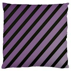 Purple elegant lines Large Flano Cushion Case (One Side)