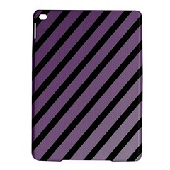 Purple elegant lines iPad Air 2 Hardshell Cases