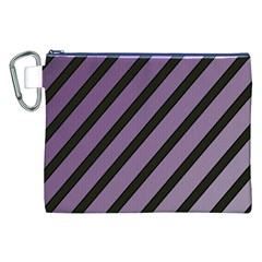 Purple elegant lines Canvas Cosmetic Bag (XXL)