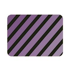 Purple elegant lines Double Sided Flano Blanket (Mini)
