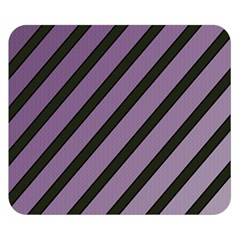Purple elegant lines Double Sided Flano Blanket (Small)