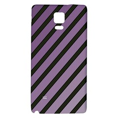 Purple elegant lines Galaxy Note 4 Back Case