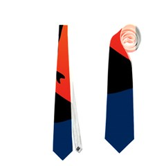 Man Surfing at Sunset Graphic Illustration Neckties (One Side)
