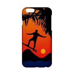 Man Surfing at Sunset Graphic Illustration Apple iPhone 6/6S Hardshell Case