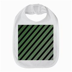 Green elegant lines Bib