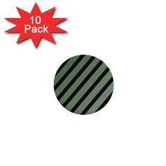 Green elegant lines 1  Mini Buttons (10 pack)