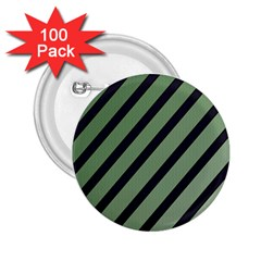 Green elegant lines 2.25  Buttons (100 pack)