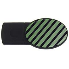 Green elegant lines USB Flash Drive Oval (1 GB)