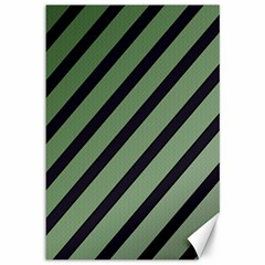Green elegant lines Canvas 12  x 18