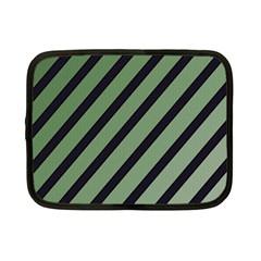 Green elegant lines Netbook Case (Small)