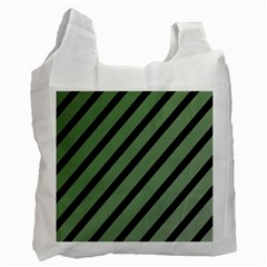Green elegant lines Recycle Bag (Two Side)