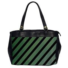 Green elegant lines Office Handbags