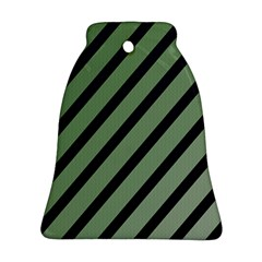 Green elegant lines Ornament (Bell)