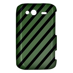 Green elegant lines HTC Wildfire S A510e Hardshell Case