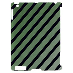 Green elegant lines Apple iPad 2 Hardshell Case (Compatible with Smart Cover)
