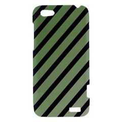 Green elegant lines HTC One V Hardshell Case
