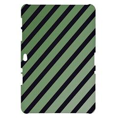 Green elegant lines Samsung Galaxy Tab 10.1  P7500 Hardshell Case