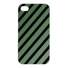 Green elegant lines Apple iPhone 4/4S Premium Hardshell Case