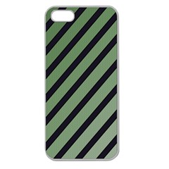 Green elegant lines Apple Seamless iPhone 5 Case (Clear)