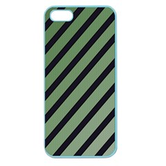 Green elegant lines Apple Seamless iPhone 5 Case (Color)