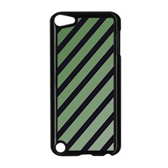 Green elegant lines Apple iPod Touch 5 Case (Black)