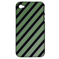 Green elegant lines Apple iPhone 4/4S Hardshell Case (PC+Silicone)