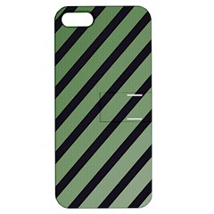 Green elegant lines Apple iPhone 5 Hardshell Case with Stand