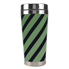 Green elegant lines Stainless Steel Travel Tumblers