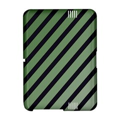 Green elegant lines Amazon Kindle Fire (2012) Hardshell Case