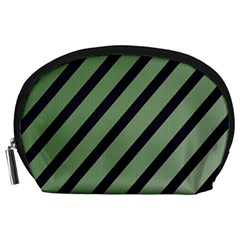 Green elegant lines Accessory Pouches (Large)