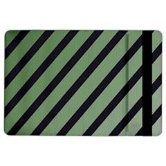 Green elegant lines iPad Air 2 Flip