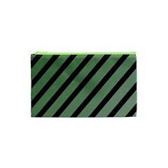 Green elegant lines Cosmetic Bag (XS)