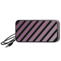 Elegant lines Portable Speaker (Black)