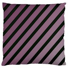 Elegant Lines Large Flano Cushion Case (one Side)
