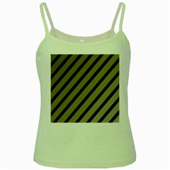 Decorative elegant lines Green Spaghetti Tank