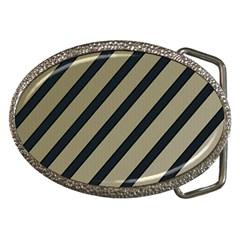 Decorative elegant lines Belt Buckles