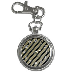 Decorative elegant lines Key Chain Watches