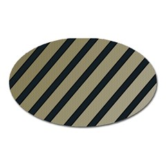 Decorative elegant lines Oval Magnet