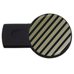 Decorative elegant lines USB Flash Drive Round (1 GB)